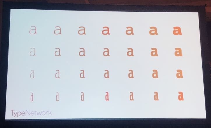 A slide featuring types of fonts.