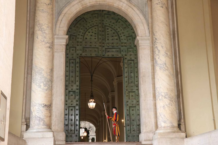 "Italian Guardia Svizzera serve as warden for the Vatican City and protect the Pope at all costs. These Swiss army men are referred to as ""the world's smallest army."""